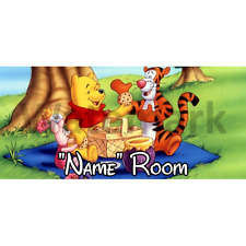 Winnie The Pooh Personalised Bedroom Door Sign / Plaque – Any Text/Name (3)