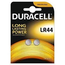2x Pilas Boton Duracell LR44 Batería Alcalina 1.5V
