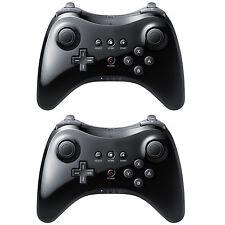 2 X Black High Quality U Pro Bluetooth Wireless Controller for Nintendo Wii U TB