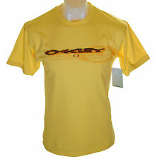Bnwt Authentic Men's Oakley Lined T Shirt Small Yellow New Crew Neck