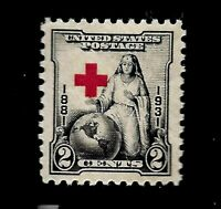 US 1931 SC# 702 - 2 Cent Red Cross  Mint NH - Crisp Color - Centered