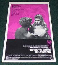 DADDY'S GONE A-HUNTING 1969 ORIGINAL MOVIE POSTER WINDOW CARD CAROL WHITE