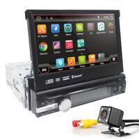 7''Car DVD Player GPS Universal Single Din BT WIFI Radio Audio 4Core Android 9.0