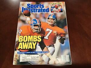 Sports Illustrated September 21, 1987 Bombs Away Denver's John Elway