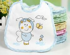 Us Stock 10pcs/Lot Baby Boy Girl Newborn Kids Bibs Waterproof Saliva Towel Bib