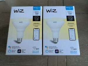 Wiz  Soft White BR30 LED 65W  Dimmable Smart Wi-Fi  Connected Light #4-BLUBS