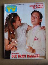 TV Sorrisi e Canzoni n°23 1982 Miguel Bosè Claudio Cecchetto Espana Mundia[G589]