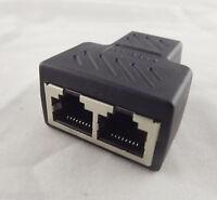 LAN Ethernet Network RJ45 Cable 1 To 2 Female Socket Splitter Connector Adapter