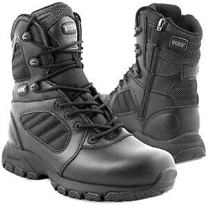 MAGNUM LYNX 8.0 SZ Tactical Police Security Uniform Side-Zip Leather Boots Black