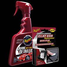 Meguiars Quik Clay kit Detailing System G1116 Quick Detailer + Clay Bar Lackpoli
