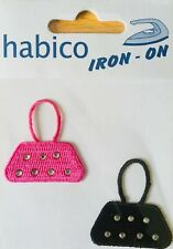 Habico Black & Pink Bag / Handbags Iron on Motif Patch Child Adult Embellishment