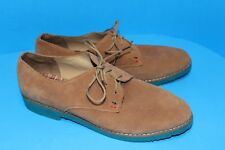Women's TOMMY HILFIGER Honeybee Tan Suede Leather Lace Up Oxford Shoes, Size 9