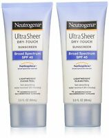 Neutrogena Ultra Sheer Dry-Touch Sunblock, SPF 45, 88 ml (Pack of 2)