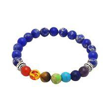 Chakra Bracelet DARK BLUE 7 Gemstones by ZILA COMPANY Crystal Reiki Healing Yoga