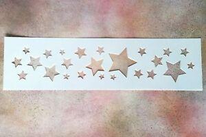 30cm Random Star Border -  Mylar Stencil Shabby Chic Rustic Vintage Wall Kids