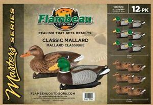 """Flambeau Master Series Classic Mallard 12 Pack - 14"""" Standard 1812DPK NEW"""