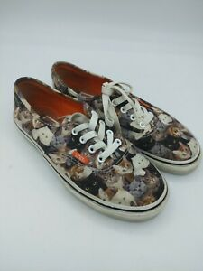 Vans Cat Kitty Print ASPCA KIDS Lace Up Sneakers Shoes kids size 3