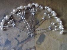 5 Haarnadeln Hairpins Perlen Fächer Ivory Braut Haarschmuck Hochzeit Wedding