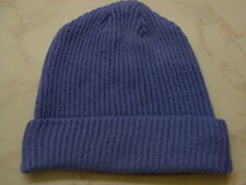 Made in Scotland Beautiful  100%  LAMBSWOOL   Beanie  China Blue ...............