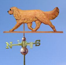 Cavalier King Charles Spaniel Hand Carved Hand Painted Basswood Dog Weatherva.