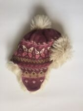 Euc babyGap Aviator Butterfly Sweater Fur Hat Size S M