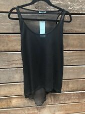 WOMENS KOOKAI BLACK SHEER WOOL TOP NEW WITH TAGS SIZE ALL