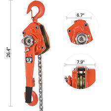 Chain Lever Block Hoist Come Along Ratchet Lift 3Ton 6600lb Capacity Work