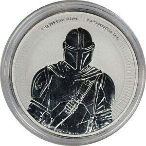 2021 Niue 1 oz 999 Silver $2 Star Wars - The Mandalorian BU Coin in Capsule