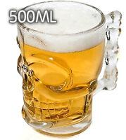 Boccale birra teschio Skull Shot Boccale in vetro a forma di Teschio per birra