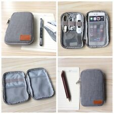 Black Storage USB Cable Organizer Bag Case Digital Earphone Travel Insert Gray