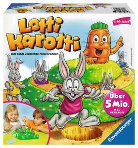 Lotti Karotti Juego de Carreras Infantil Mesa Hasenrennen Zanahoria