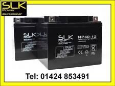 2 x 12v 40amp SLK POWER PREMIUM MOBILITY SCOOTER WHEELCHAIR AGM/GEL BATTERIES