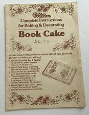 Wilton Complete Instructions Book Cake Baking Decorating Leaves Icing Scrolls PB