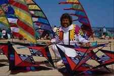 647062 Kite Maker On Beach A4 Photo Print
