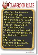 Classroom Rules #10 - NEW Classroom Motivational Poster