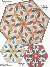 Prairie Flower machine applique quilt pattern Marjorie Rhine of Quilt Design NW