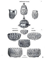 AJ Beatty & Sons-pattern glass history & catalog pages