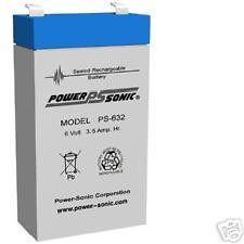 PS-632 — 6 Volt 3.5 AH Rechargeable SLA Battery - PS632