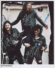 Motorhead 1978 Band SIGNED Photo 1st Generation PRINT Ltd No'd + Certificate / 2