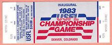 1983 USFL INAUGURAL Championship Game Ticket - MINT