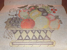 "Handpainted Canva Needlepoint Fruit Basket 12"" x 12"""