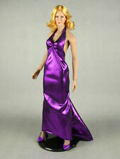 1/6 Scale Phicen, Hot Stuff, Hot Toys, SD Sexy Female Violet Satin Gown w/ Heels
