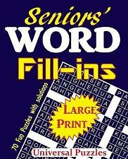 Seniors' Word Fill-Ins: By Universal Puzzles, Universal