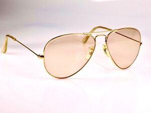 1980's B&L Ray Ban Photochromic Aviator, 58mm Lens, L2928 Sunglasses & Case