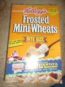 Mini Wheats 24.3 oz empty box Nintendo Donkey Kong Back