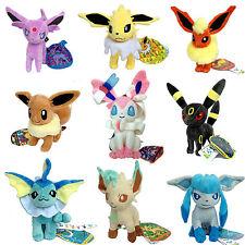 9X Pokemon Plush Toy Sylveon Eevee Umbreon Jolteon Espeon Glaceon Vaporeon ETC