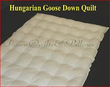 HUNGARIAN GOOSE DOWN 95% - QUEEN SIZE QUILT - 5 BLANKET - DIMPLE RING STITCHED