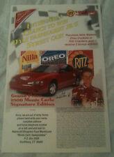 Dale Earnhardt Jr.- Nabisco Store Display Poster -2000 Monte Carlo Signature Ed.