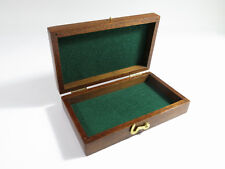 Restored Antique Solid Mahogany Presentation/Jewelry Box — Green Felt Lining