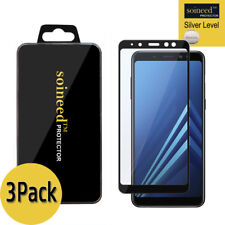 "[3Pack] SOINEED Samsung Galaxy A8+ 2018 6.0"" FULL COVER Tempered Glass Protector"